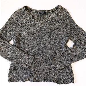 MaxMara weekend v neck marled knit sweater